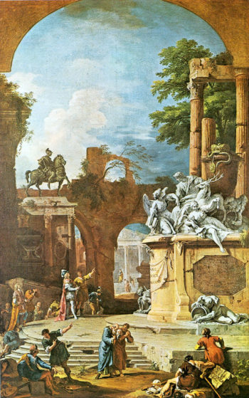 Allegorical Tomb of the Duke of Devonshire | Sebastiano Ricci | oil painting