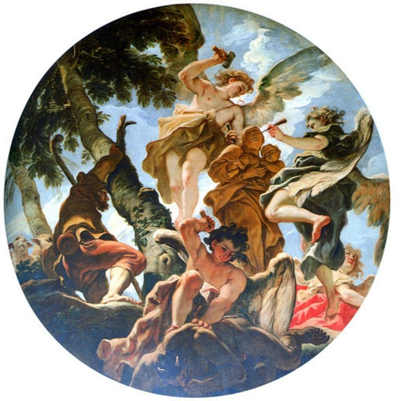 Angels Sculpturing the Statue of Madonna | Sebastiano Ricci | oil painting