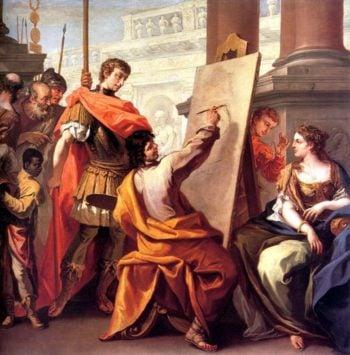 Apelles Making a Portrait of Pancaspe | Sebastiano Ricci | oil painting