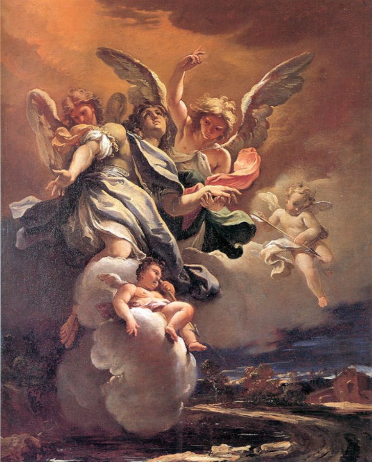 Apotheosis of St Sebastian   Sebastiano Ricci   oil painting