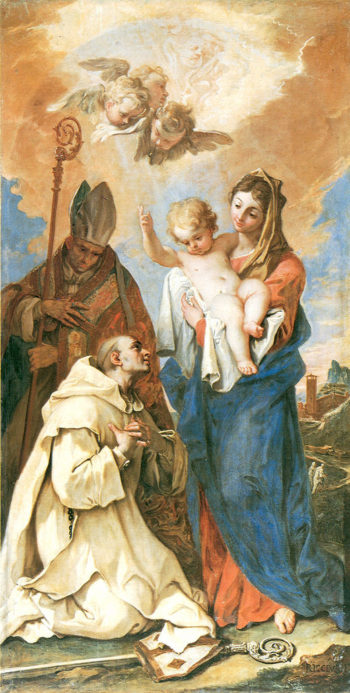 Appearance of Madonna with Child to St Bruno and St Hugo | Sebastiano Ricci | oil painting