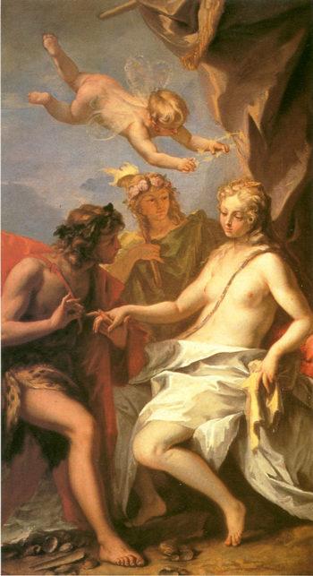 Bacchus and Ariadne   Sebastiano Ricci   oil painting