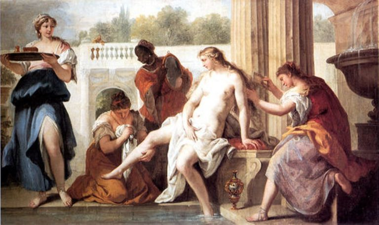 Bathsheba in her Bath   Sebastiano Ricci   oil painting