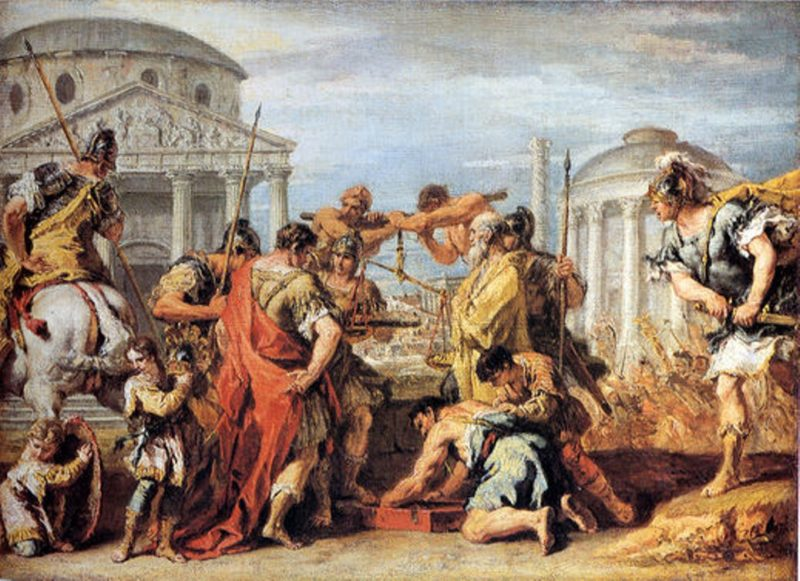 Camillus Rescuing Rome from Brennus | Sebastiano Ricci | oil painting
