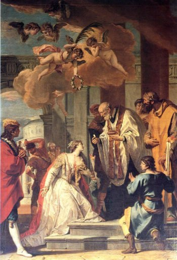 Communion and Martyrdom of St Lucy | Sebastiano Ricci | oil painting