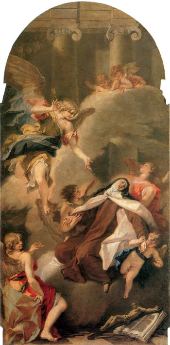 Ecstasy of St Therese | Sebastiano Ricci | oil painting