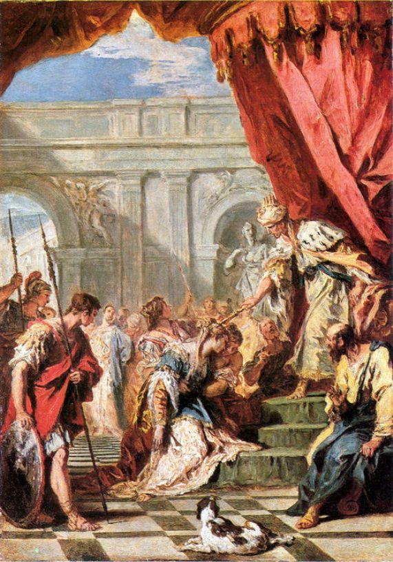 Esther Before Ahasuenus   Sebastiano Ricci   oil painting