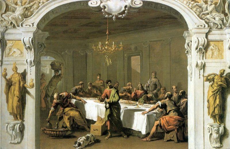 Last Supper   Sebastiano Ricci   oil painting