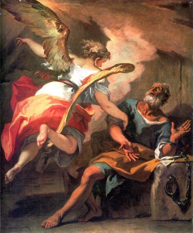 Liberation of St Peter   Sebastiano Ricci   oil painting