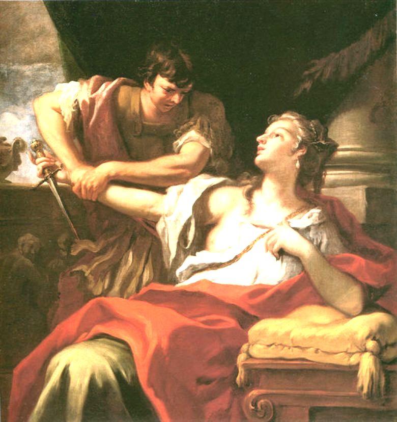 Lucretia   Sebastiano Ricci   oil painting