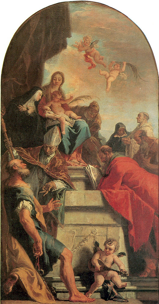 Madonna with Child and Saints   Sebastiano Ricci   oil painting