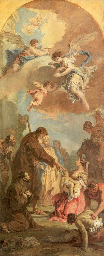 Miracle of Saint Francis of Paola | Sebastiano Ricci | oil painting
