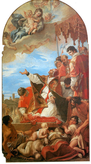 Pope Gregory the Great before Virgin | Sebastiano Ricci | oil painting