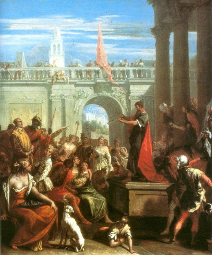 Preaching of St Paul | Sebastiano Ricci | oil painting