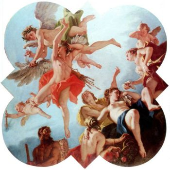 Punishment of Cupid | Sebastiano Ricci | oil painting