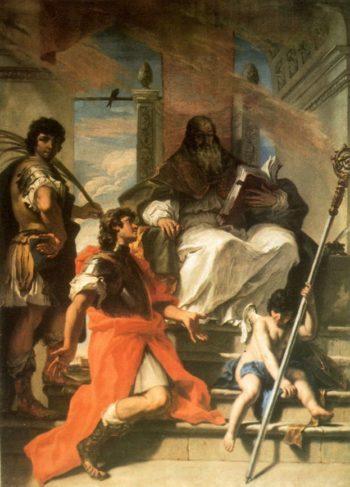 Saints Procolo Fermo and Rustico | Sebastiano Ricci | oil painting