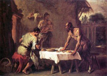 Satyr and a Farmer | Sebastiano Ricci | oil painting