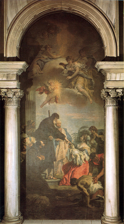 St Francis of Paola Revives a Dead Child | Sebastiano Ricci | oil painting