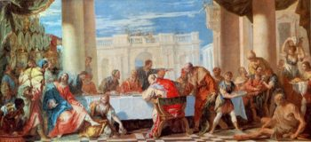 St Magdalen Anointing Feet of Christ | Sebastiano Ricci | oil painting