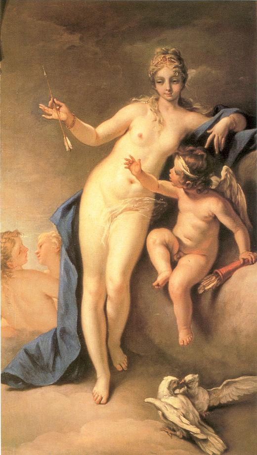 Venus and Cupid   Sebastiano Ricci   oil painting
