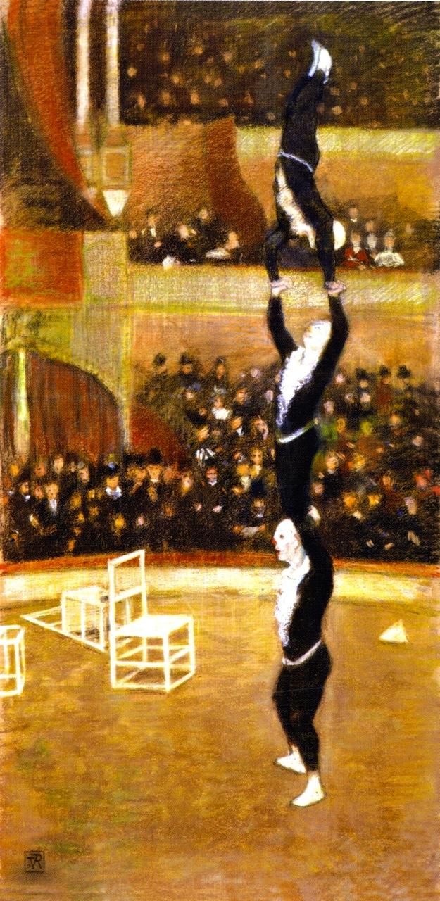 Acrobats | Theo van Rysselberghe | oil painting