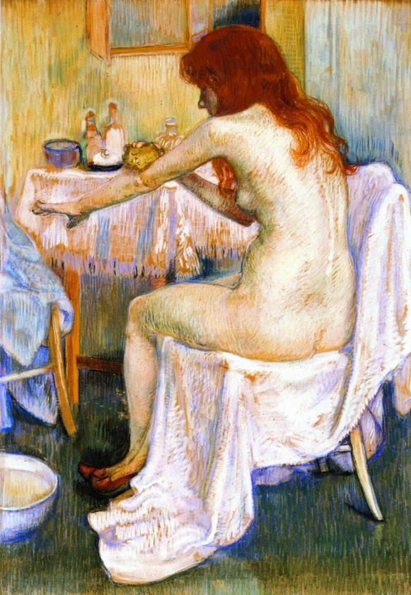 After the Bath | Theo van Rysselberghe | oil painting