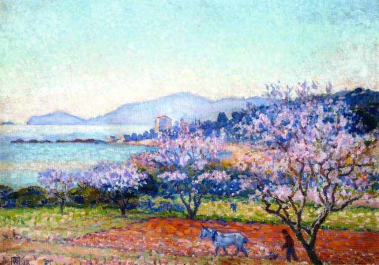 Almond Tree in Blossom | Theo van Rysselberghe | oil painting