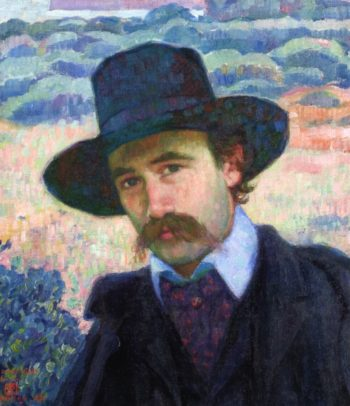 Andre Gide at Jersey | Theo van Rysselberghe | oil painting