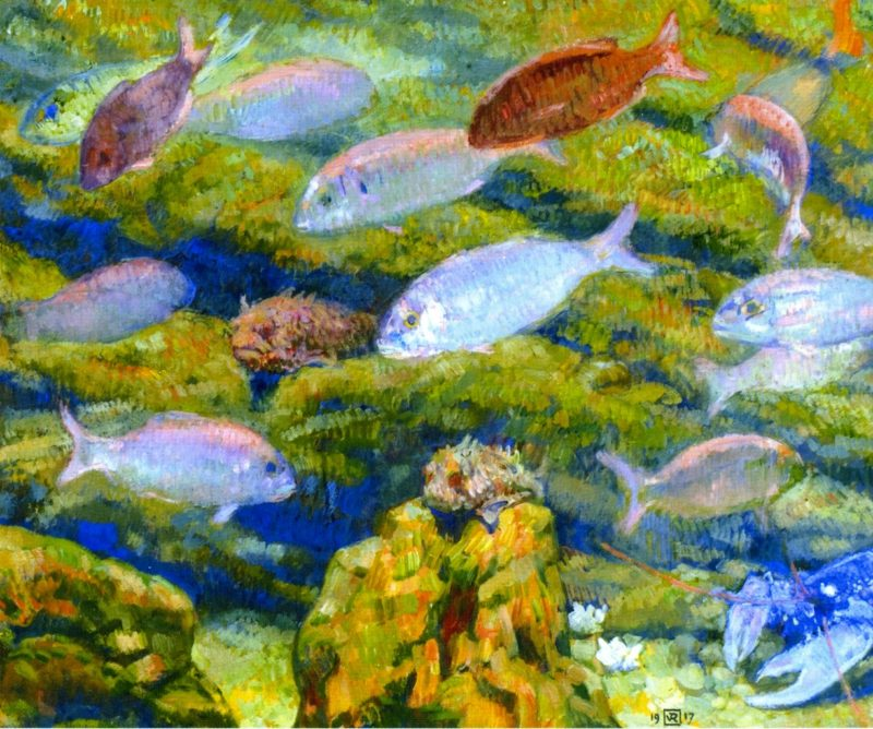 Aquarium Window | Theo van Rysselberghe | oil painting