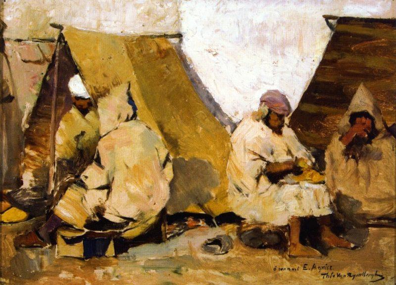 Arab Cobblers   Theo van Rysselberghe   oil painting