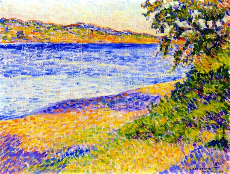 Banks of the Argens at Saint Aygulf | Theo van Rysselberghe | oil painting