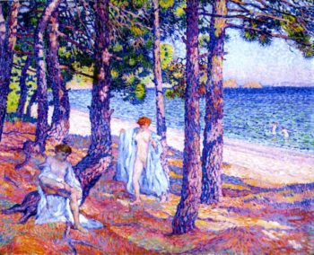Bathers under the Pines at Cavalliere | Theo van Rysselberghe | oil painting