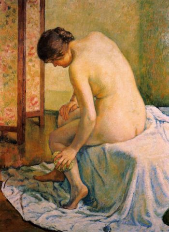 Bather | Theo van Rysselberghe | oil painting