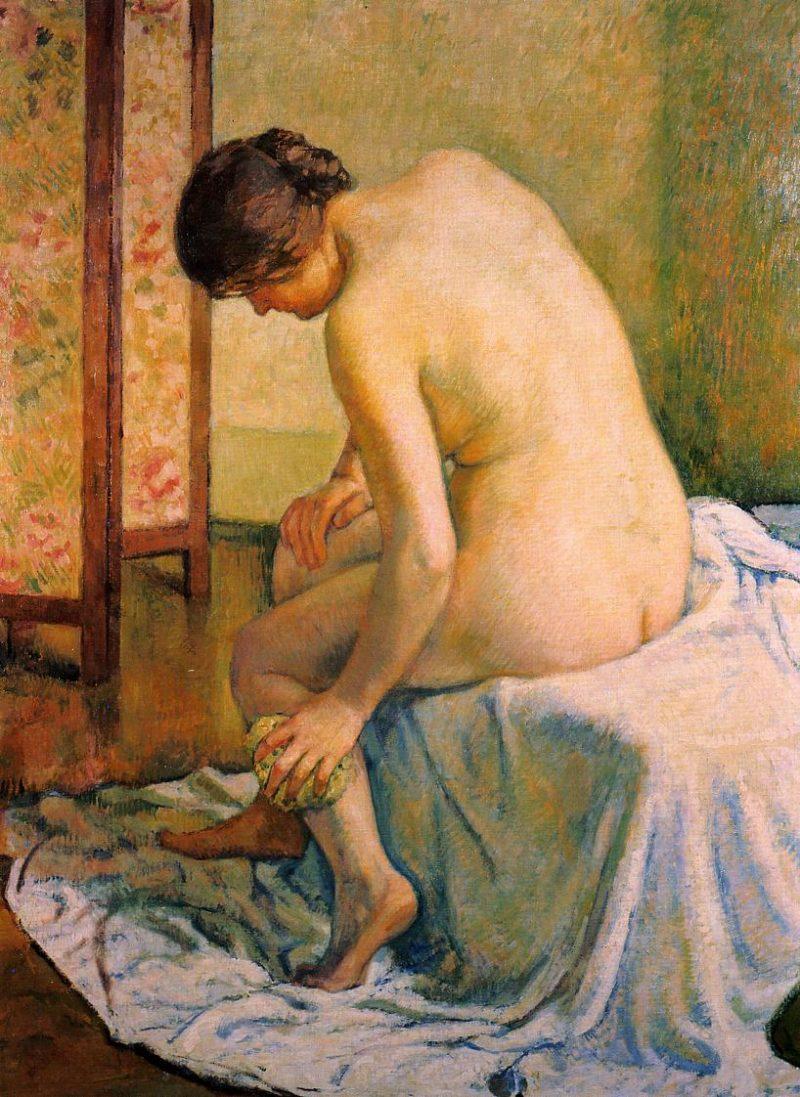 Bather | Theo van Rysselberghe | oil painting