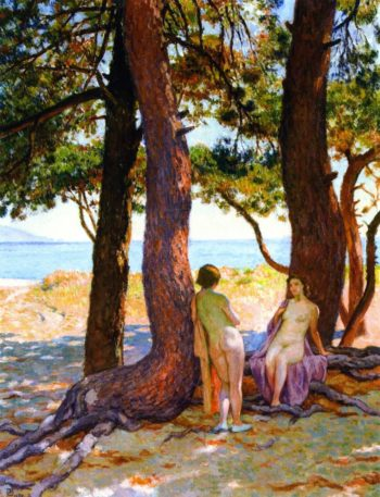 Beneath the Large Pines | Theo van Rysselberghe | oil painting