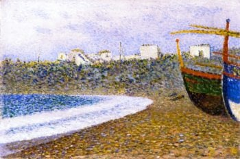 Boats on the Shore | Theo van Rysselberghe | oil painting