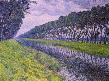 Canal in Flanders | Theo van Rysselberghe | oil painting