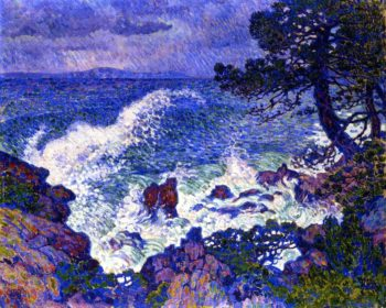 East Wind | Theo van Rysselberghe | oil painting