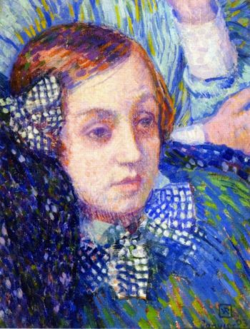 Elizabeth with Ribbons | Theo van Rysselberghe | oil painting