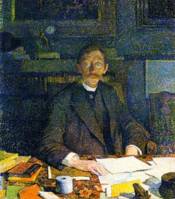 Emile Verhaeren in His Stody | Theo van Rysselberghe | oil painting