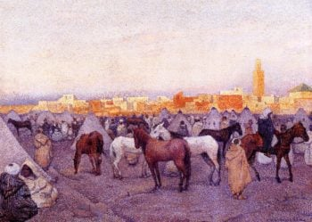 Encampment near a Moroccan Village 1 | Theo van Rysselberghe | oil painting