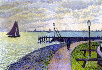 Entrance to Volendam Harbour | Theo van Rysselberghe | oil painting
