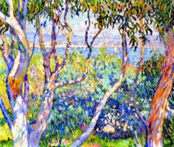 Eucalyptus at Saint Tropez | Theo van Rysselberghe | oil painting
