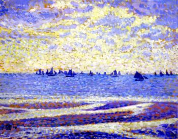 Fishing Boats in Boulogne | Theo van Rysselberghe | oil painting