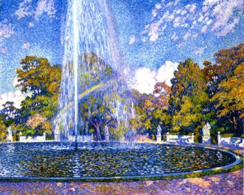 Fountain at Sans Souci Potsdam | Theo van Rysselberghe | oil painting