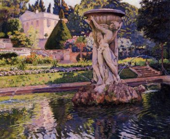 Garden with Villa and Fountain | Theo van Rysselberghe | oil painting