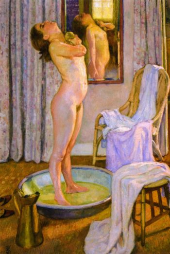 Girl in Bath | Theo van Rysselberghe | oil painting