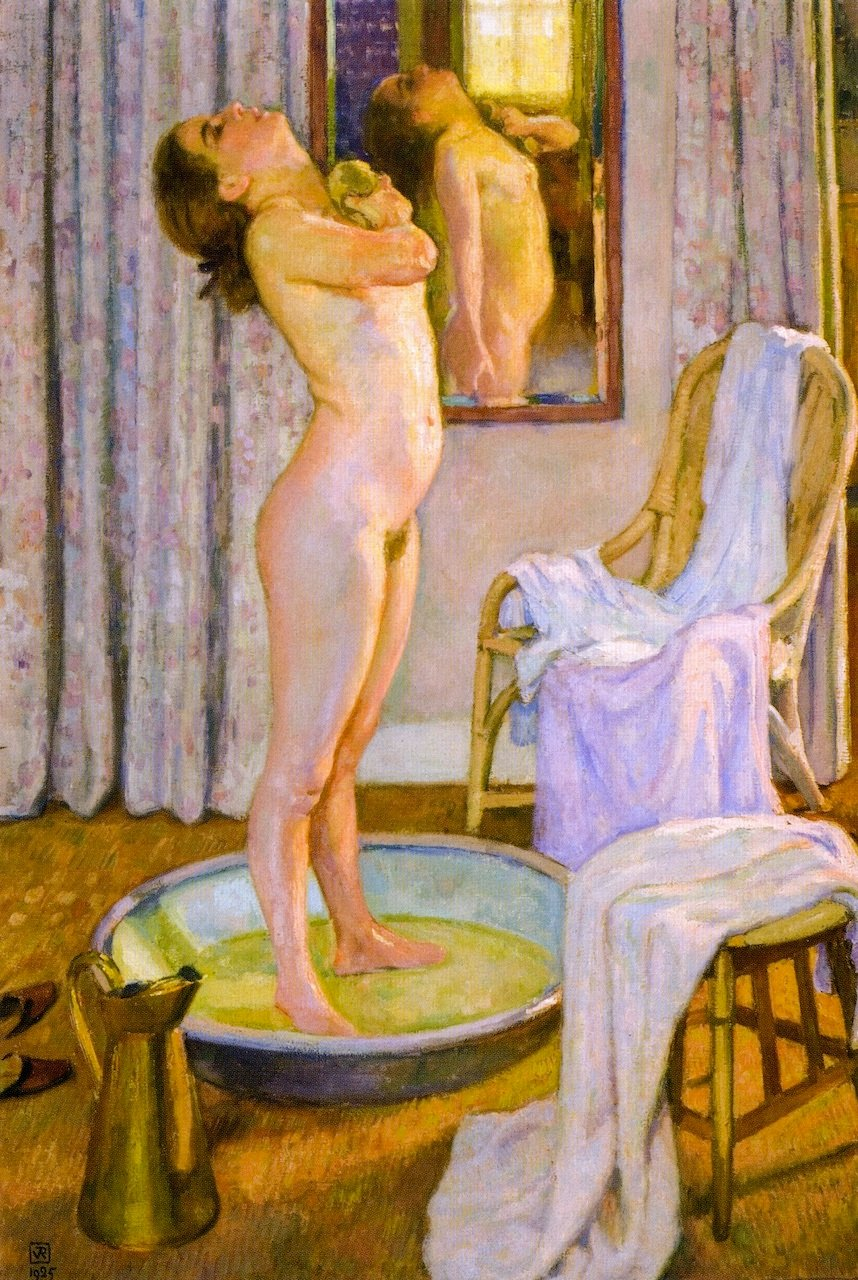 Wall art sexy nude naked women stretched and framed bathroom bedroom eleartwall