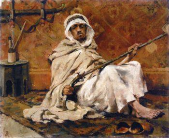 Guard Resting | Theo van Rysselberghe | oil painting