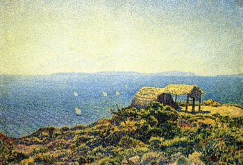 Ile du Levant View from Cape Benat Brittany | Theo van Rysselberghe | oil painting
